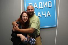 Тимофей Баженов и ведущая Радио Дача Наталья Селихова