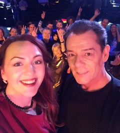 Ведущая Радио Дача Наталья Селихова и Вадим Казаченко на вечеринке Disco Дача