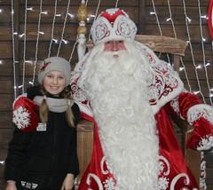 Плетнева Ангелина в гостях у Деда Мороза