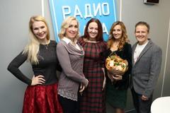 Группа «Балаган Лимитед» и ведущая Радио Дача Наталья Селихова