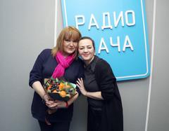 Маргарита Суханкина и ведущая Радио Дача Наталья Селихова