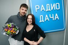 Александр Панайотов и ведущая Радио Дача Наталья Селихова