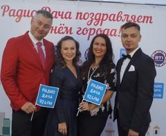 Ведущие Радио Дача Денис Чудаев, Юлия Насонова, Евгения Коноплева и Денис Левашов