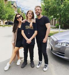 Ирина Дубцова с сыном и бывшем мужем