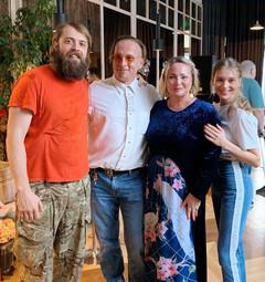 Александр Ильин, Иван Охлобыстин, Светлана Пермякова и Кристина Асмус