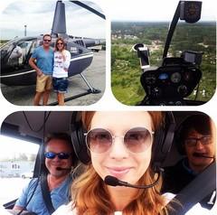 Подольская покатала Преснякова на вертолете
