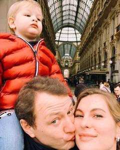 Марат Башаров с женой и сыном