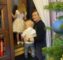 Сергей Безруков с детьми