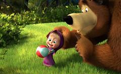 Кадр из мультика «Маша и Медведь»