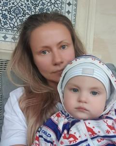 Мария Миронова с сыном
